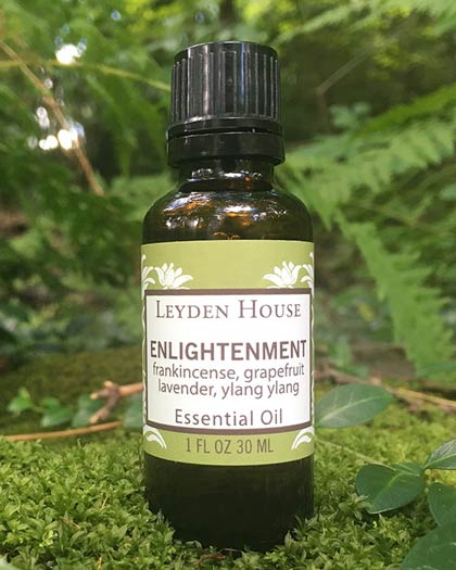 Bottle of Enlightenment Essential Oil from Leyden House