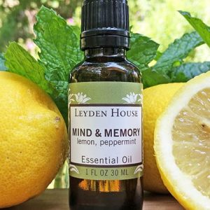 Photo of Mind and Memory essential oil blend from Leyden House